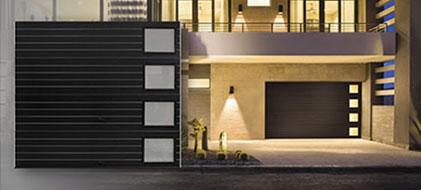 Clopay Custom Reserve Double Garage Door Design Redwood W Teak on